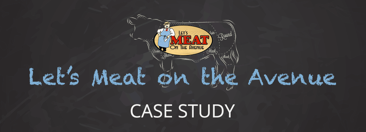 Let's Meat on the Avenue Website Case Study